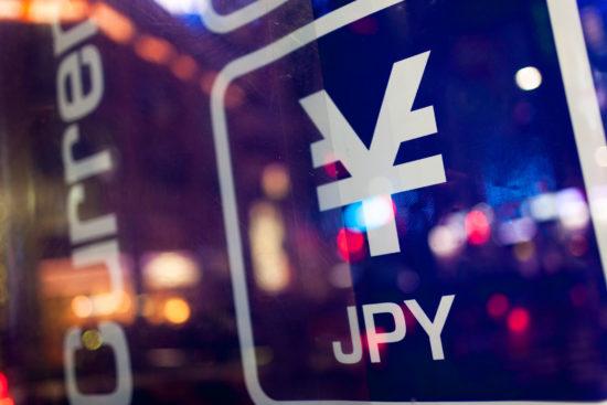 Sign of Japanese yen.